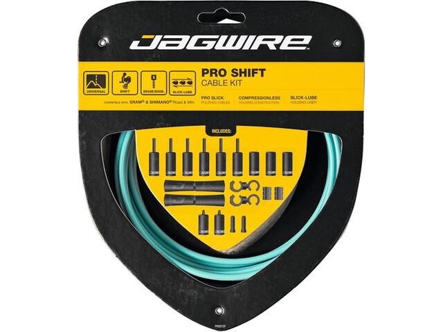 Jagwire 2X Pro Shift Schakelkabel Set, turquoise